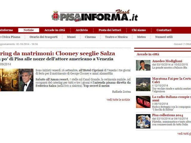 Pisa Informa: George & Amal