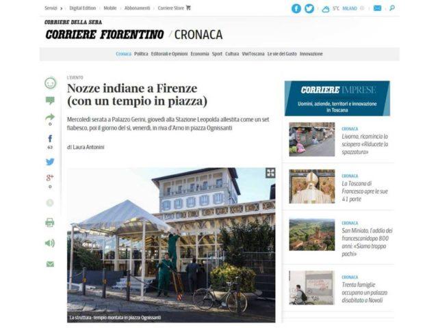 Corriere Fiorentino:Roshni Khem & Rohan Mehta