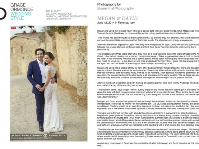 Grace Ormonde: Megan & David