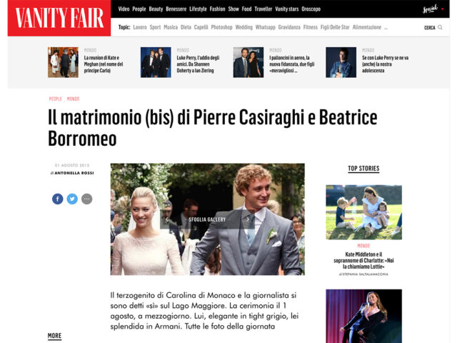 Vanity Fair: Pierre Casiraghi & Beatrice Borromeo