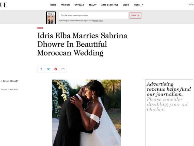 Vogue: Idris Elba & Sabrina Dhowre